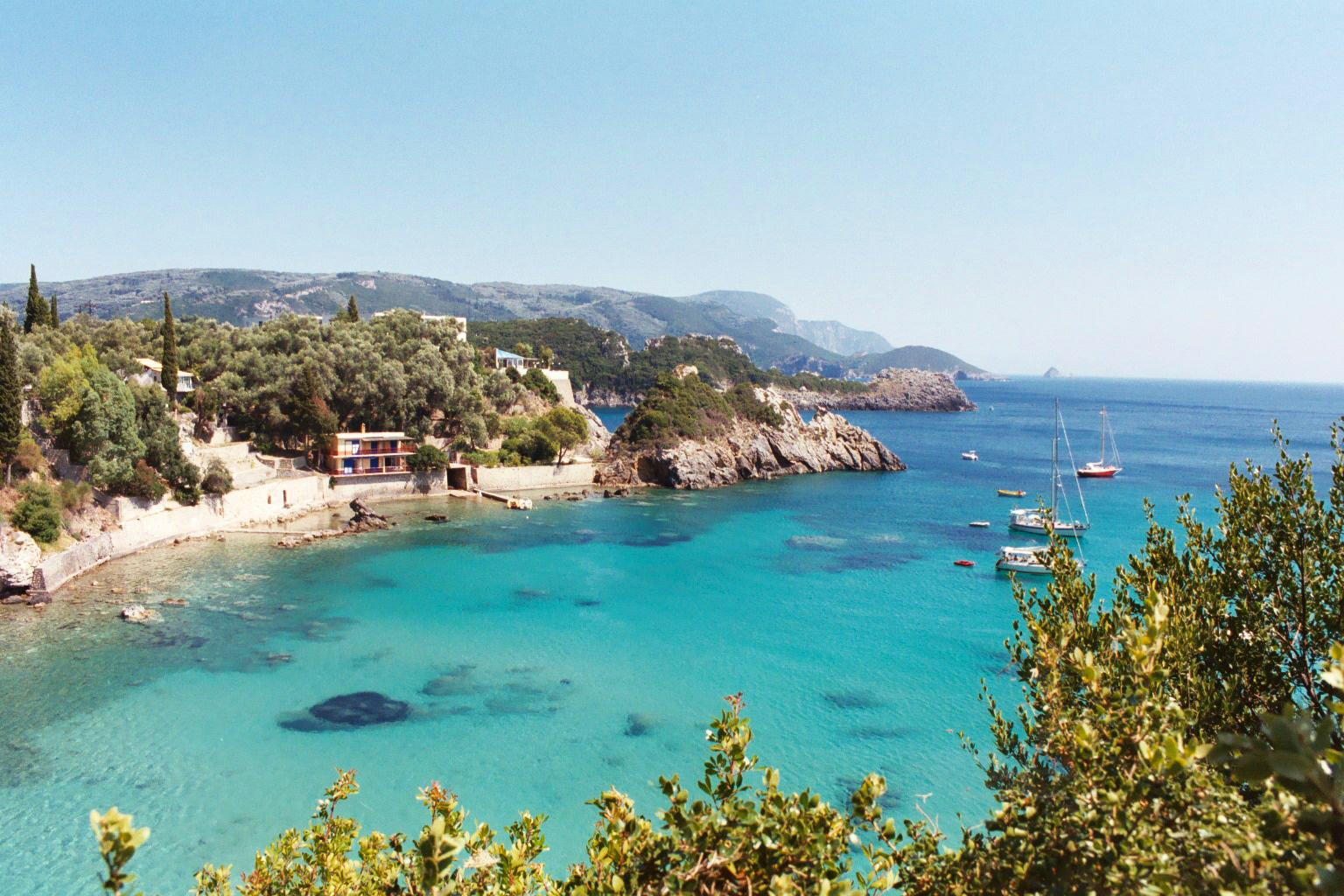 Swimming in this water is just one of the fun things to do on Corfu